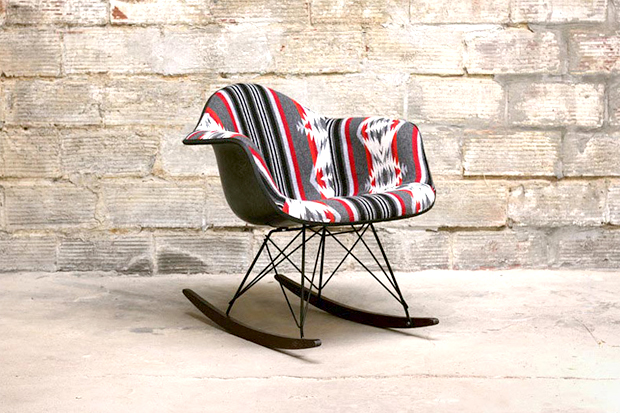 Image of Beam & Anchor's Custom Pendleton Eames Rocking Chair