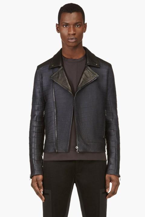 Image of Calvin Klein's $70,000 USD Alligator Biker Jacket for SSENSE