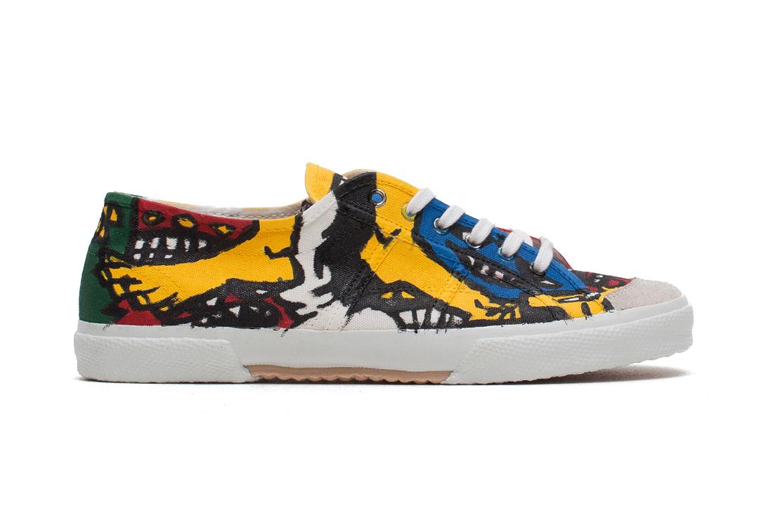 Image of COMME des GARÇONS Homme Plus 2014 Spring/Summer Hand-Painted Sneaker