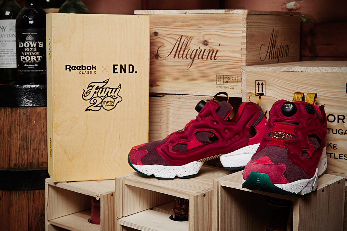 "Image of END. x Reebok Instapump Fury ""Claret"""
