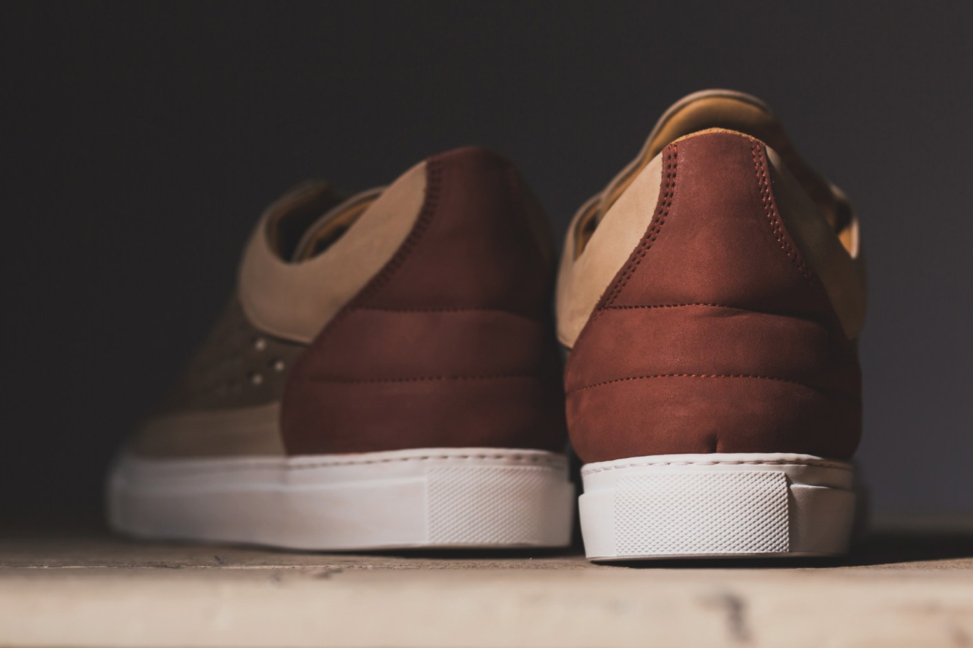 Image of Filling Pieces 2014 Spring/Summer Low Top Gradient Pattern Perforated Sneakers