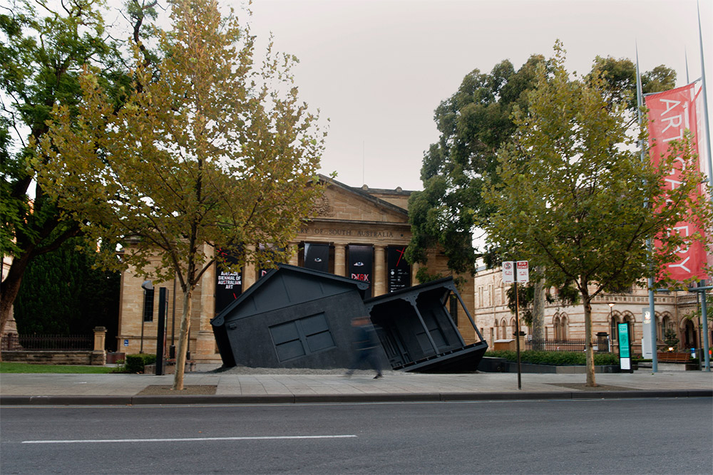 "Image of Ian Strange ""Landed"" Installation @ The Art Gallery of South Australia"
