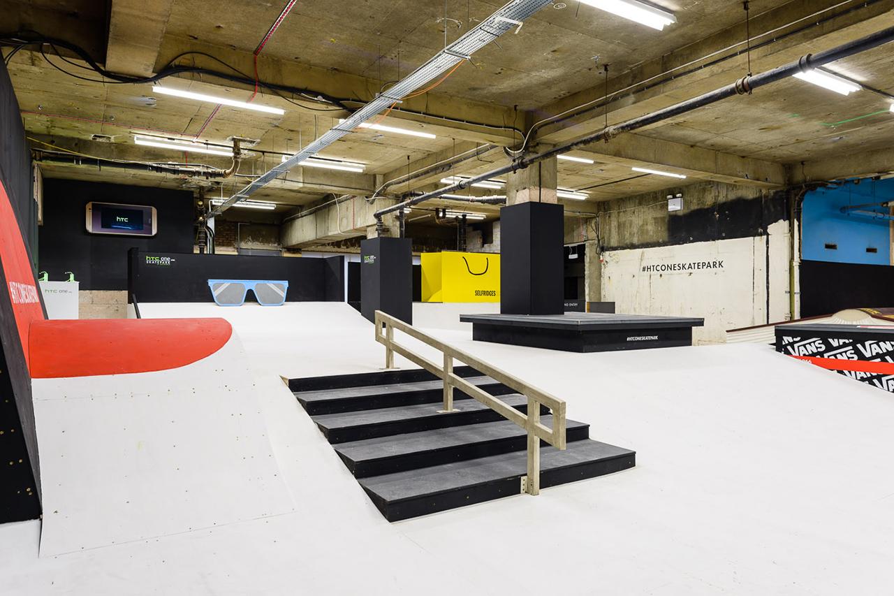 Image of Inside the HTC One Skatepark at Selfridges