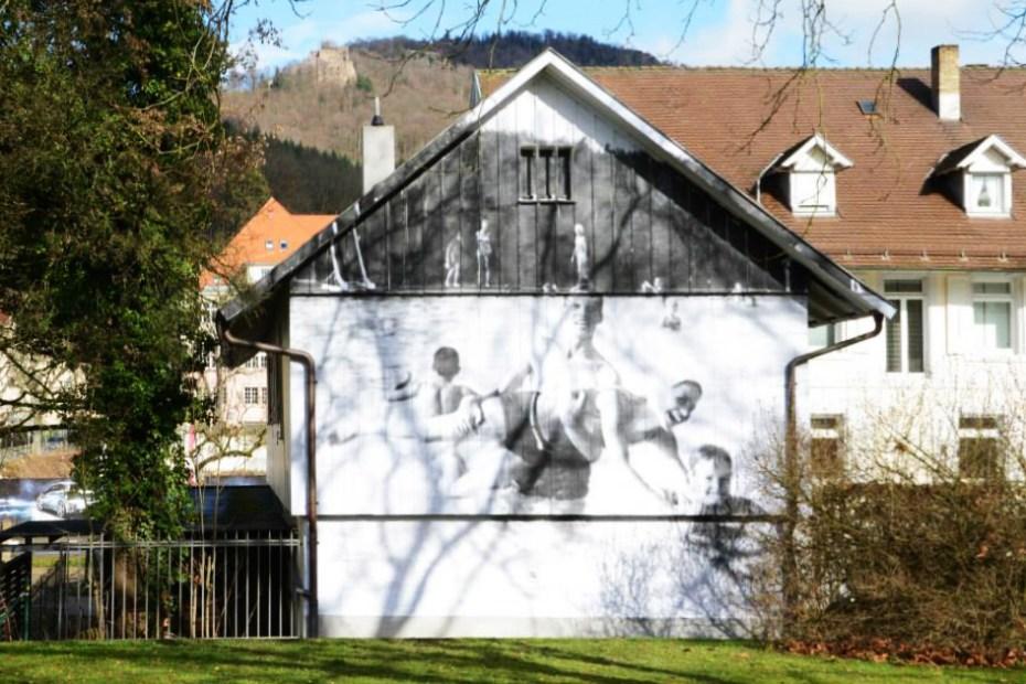 "Image of JR ""UNFRAMED"" Project In Baden-Baden, Germany"