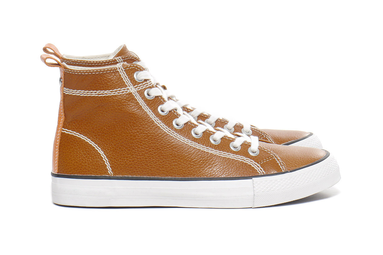 Image of Junya Watanabe MAN Cowhide Leather High-Top Sneakers