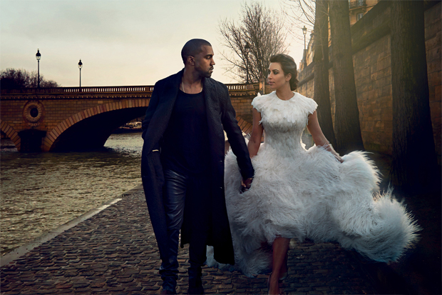 Image of Vogue featuring Kim & Kanye Inside Images and Cover Story