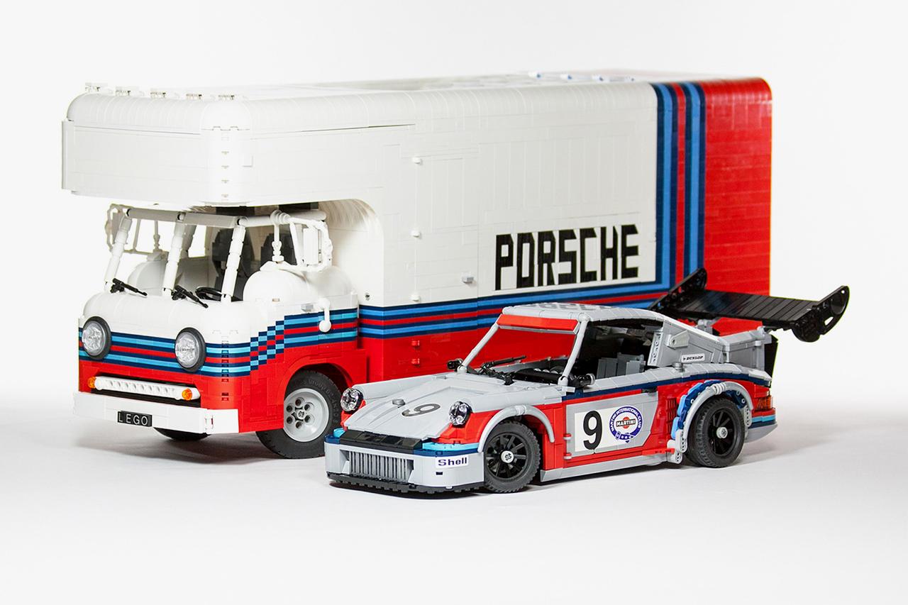 Image of LEGO Martini Porsche Racing Set by Malte Dorowski
