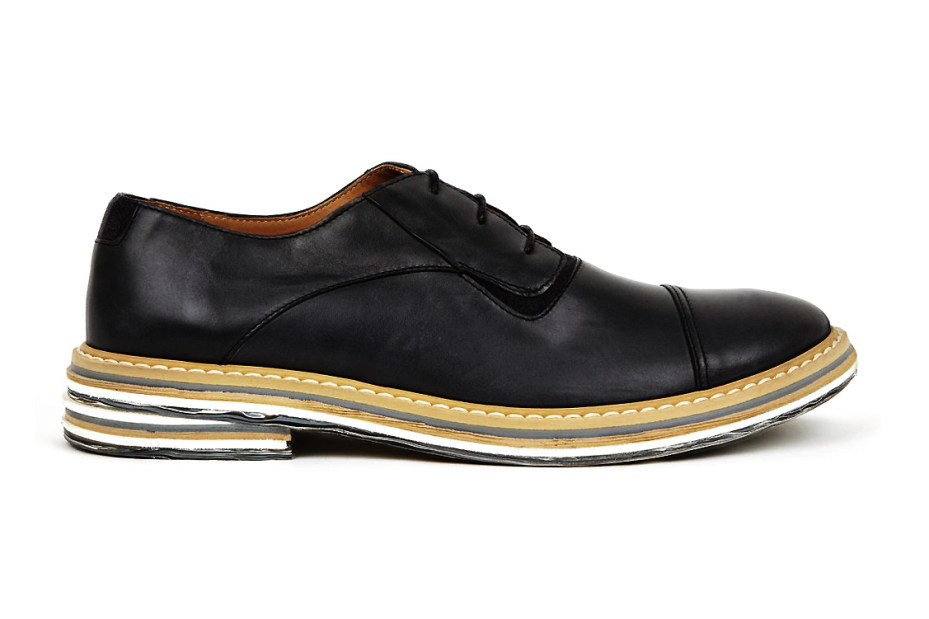 Image of Maison Martin Margiela Black Marble Sole Derby Shoes