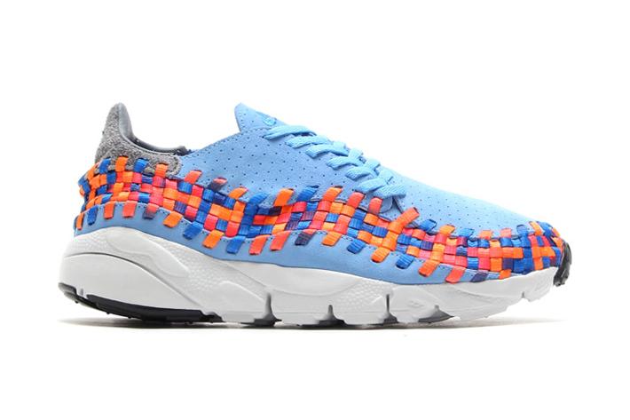 Image of Nike Air Footscape Woven Motion University Blue/Prize Blue-Atomic Orange