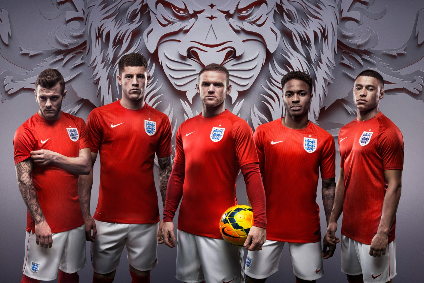 Image of Nike Debuts England's New Home and Away Kits for 2014