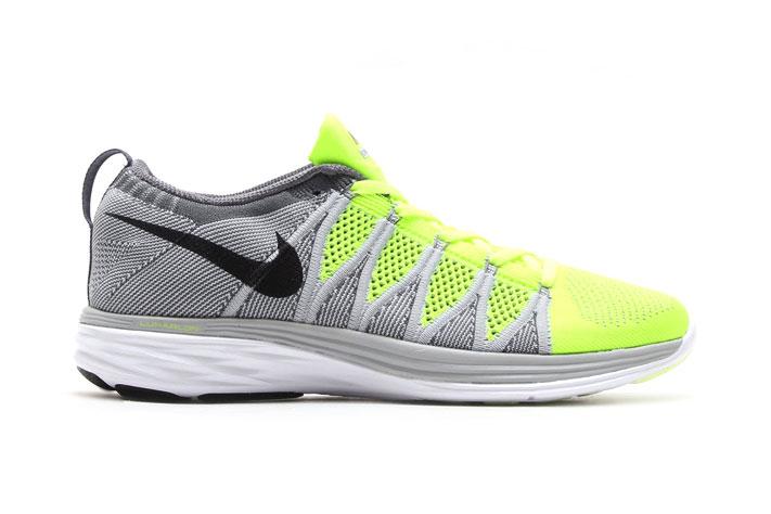 Image of Nike Flyknit Lunar2 Volt/Black-Wolf Grey-Dark Grey
