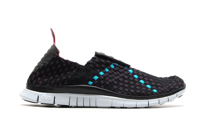 Image of Nike Free Woven 4.0 Black/Light Crimson-Turbo Green-Military Blue