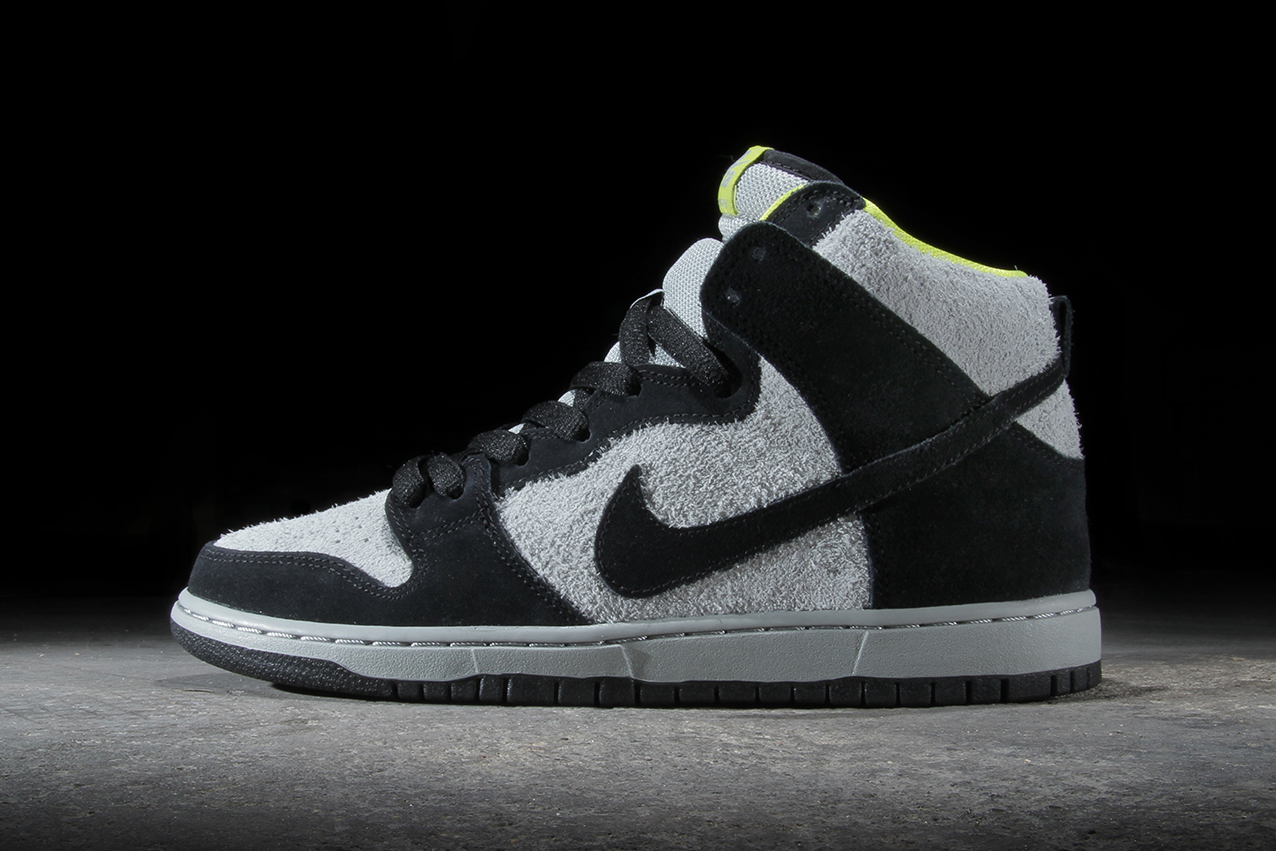 Image of Nike SB Dunk High Pro Black/Base Grey-Venom Green