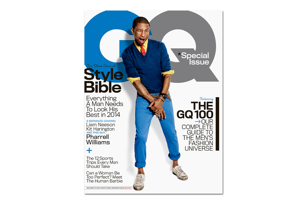 Image of Pharrell Covers GQ's 2014 April Issue