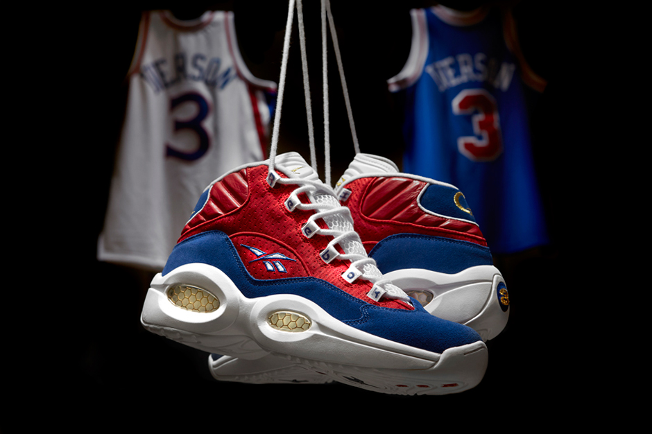 "Image of Reebok Classic Question Mid ""Banner"" in Honor of Allen Iverson's Jersey Retirement"