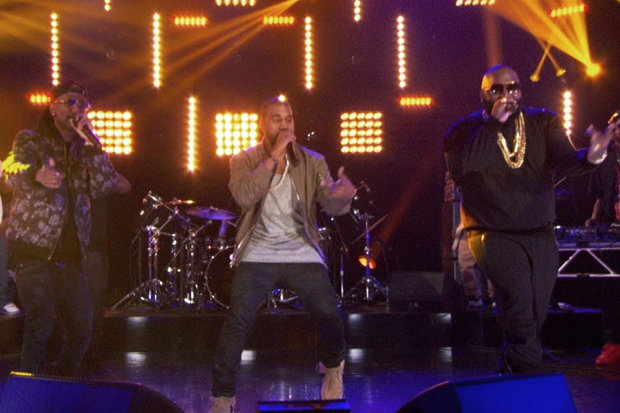 Rick Ross featuring Kanye West & Big Sean – Sanctified (Live on Arsenio)