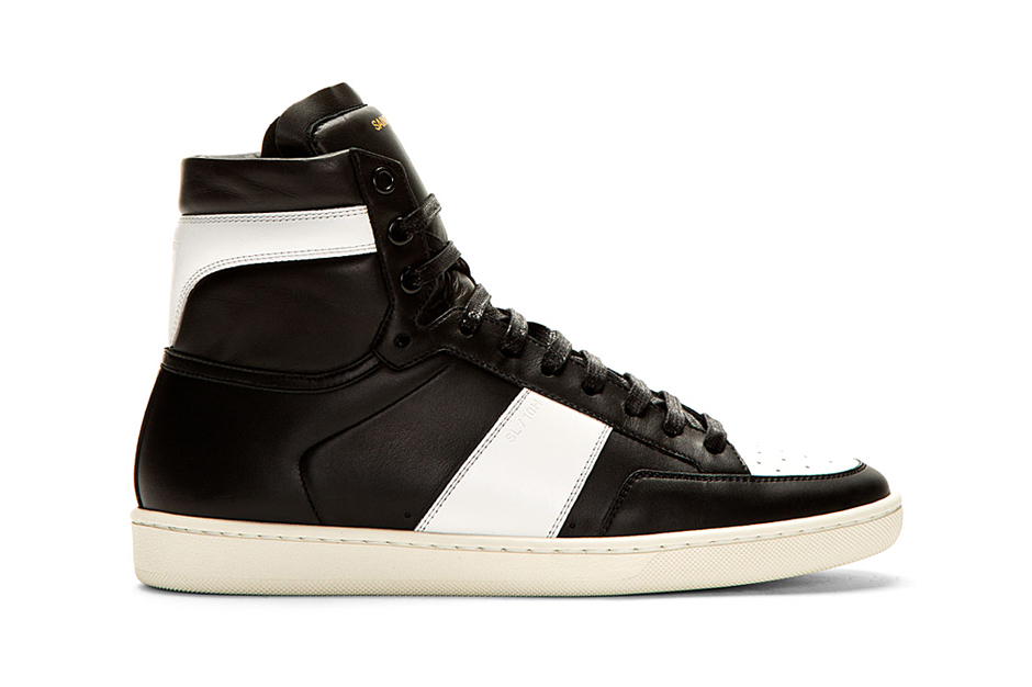 Image of Saint Laurent SL/10H Court Classic Sneaker Black/White