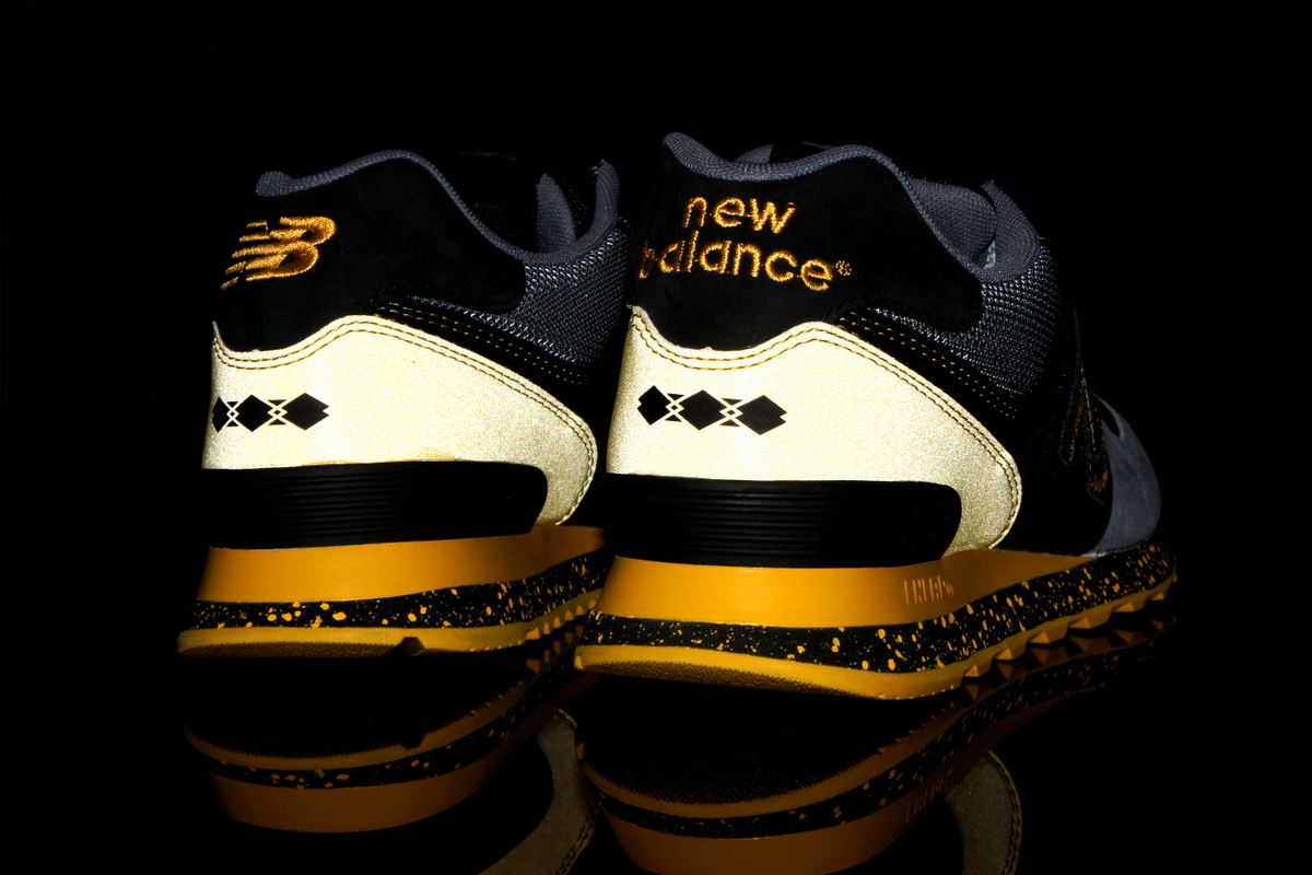"Image of Shelflife x Dr.Z x New Balance 574 ""City of Gold"""