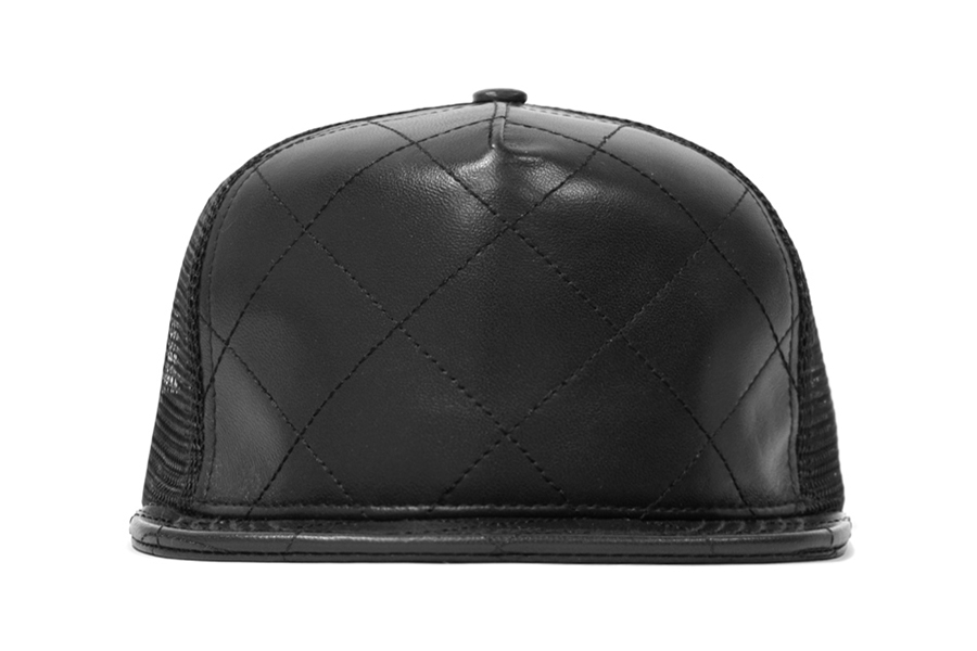Image of Stampd Quilted Leather Trucker Hats