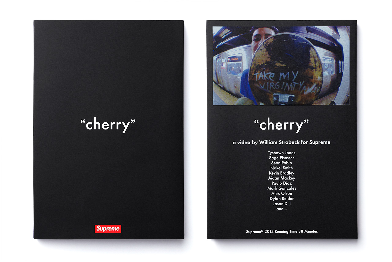 "Image of Supreme ""cherry"" Full-Length Skate Video Pack"