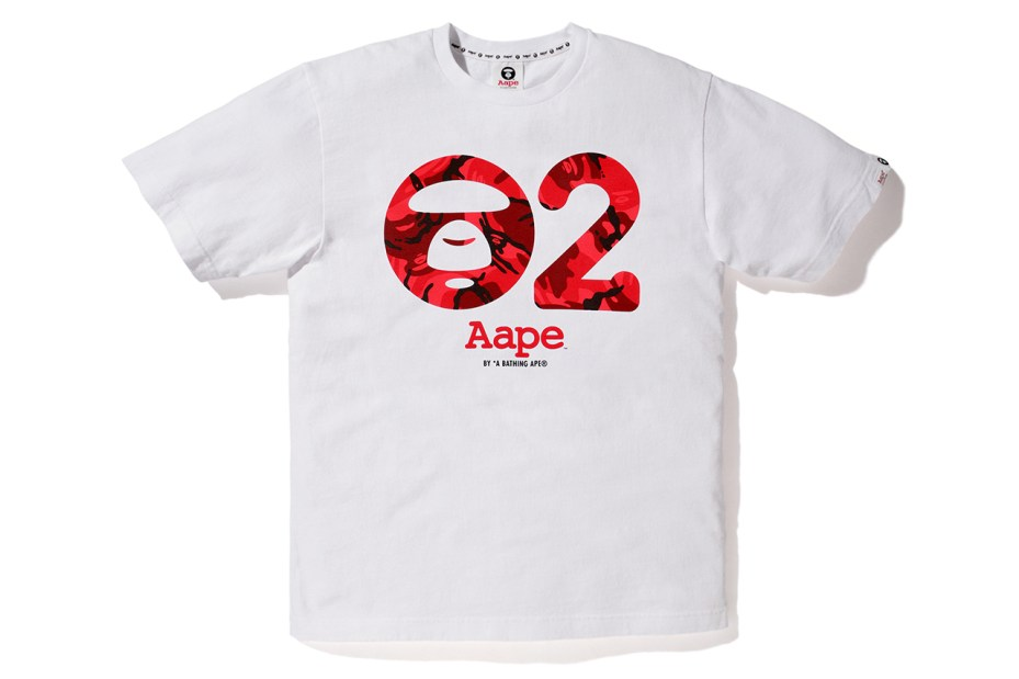 Image of AAPE by A Bathing Ape 2nd Anniversary Print T-Shirt