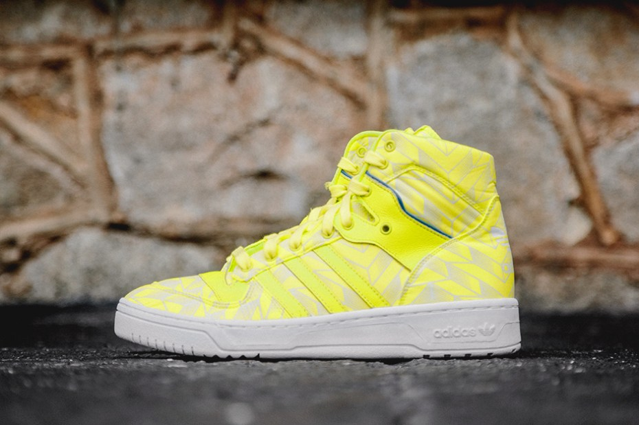 Image of adidas Originals Rivalry Hi True Blue/Electric Yellow