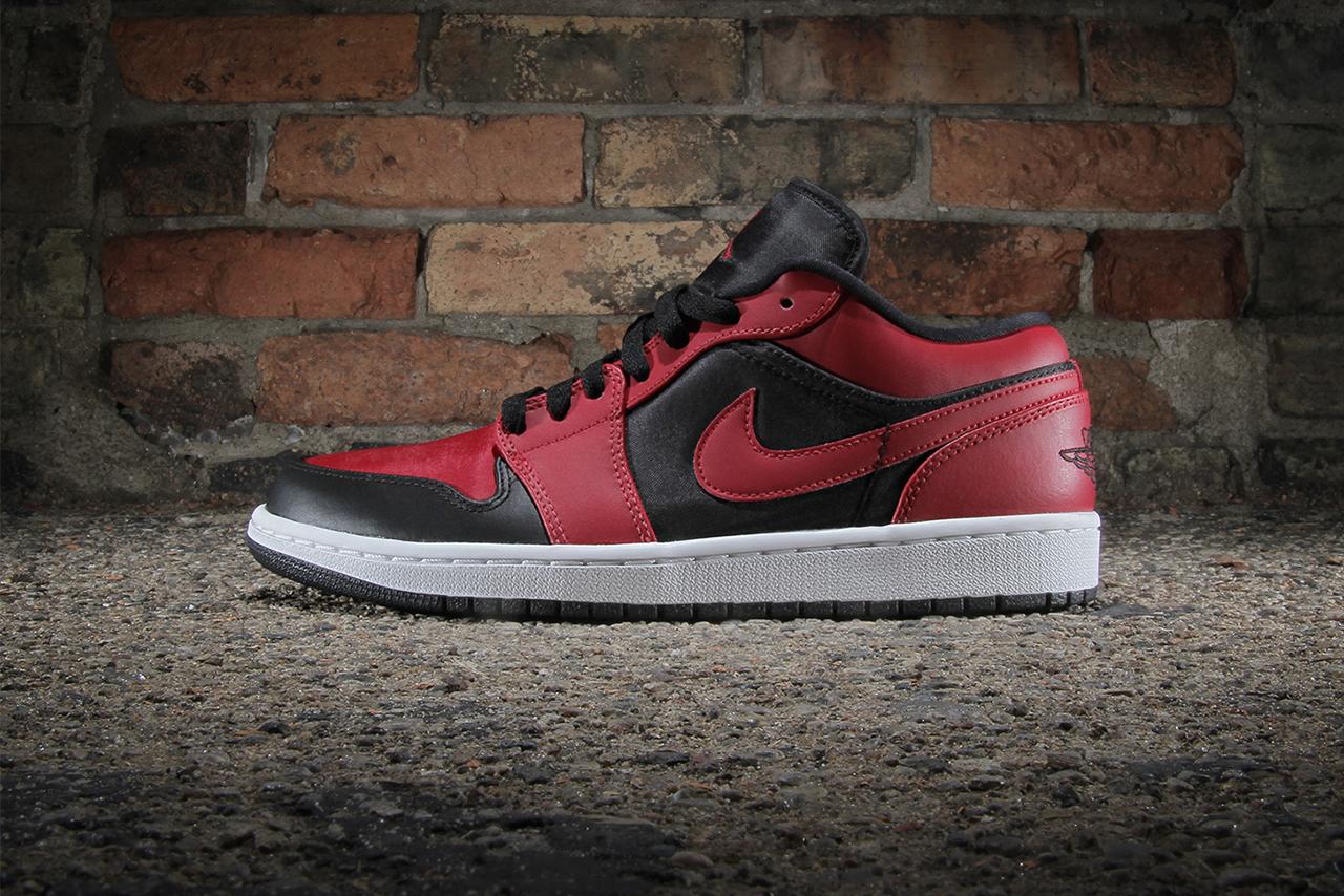 Image of Air Jordan 1 Low Black/Gym Red-White