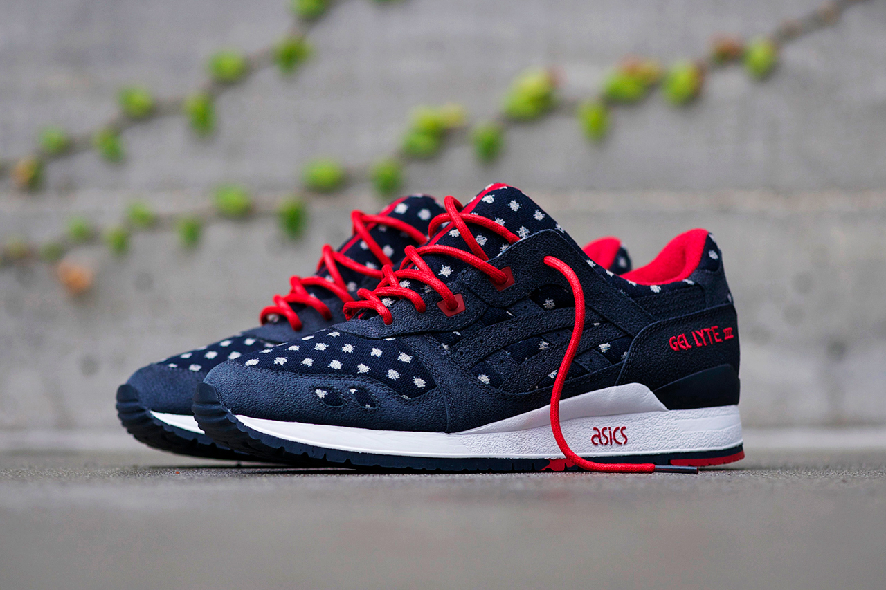 bait x asics gel lyte iii basics model 003 nippon blues hypebeast. Black Bedroom Furniture Sets. Home Design Ideas