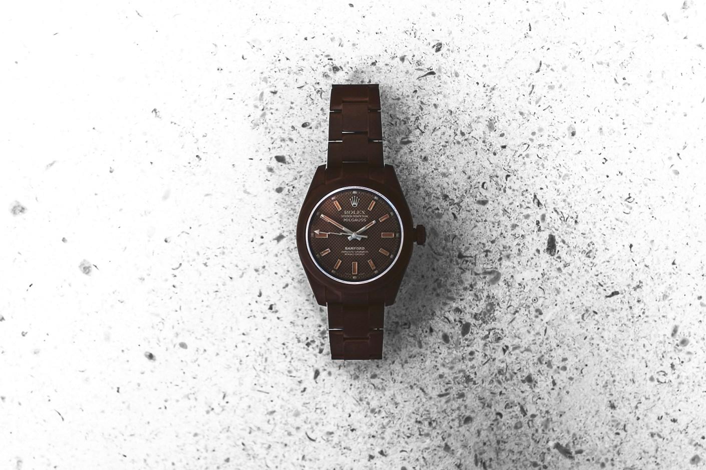 "Image of Bamford Watch Department Rolex ""Chocolate"" Milgauss"