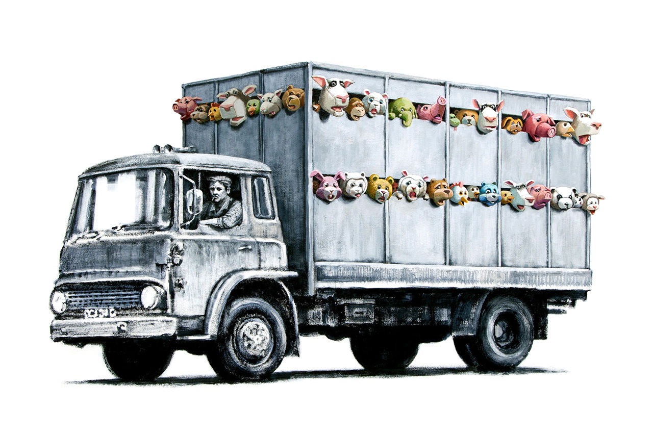 Image of Banksy 'Meat Truck'
