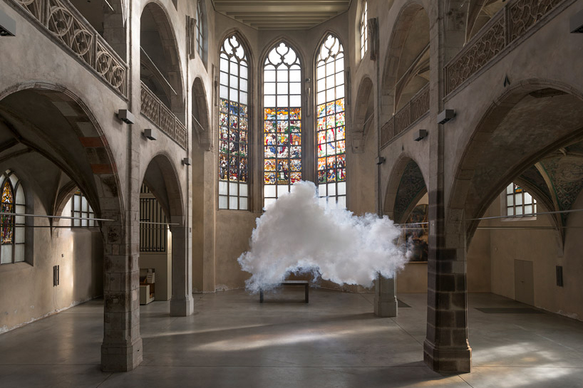 "Image of Berndnaut Smilde ""Antipode"" Exhibition @ Ronchini Gallery"