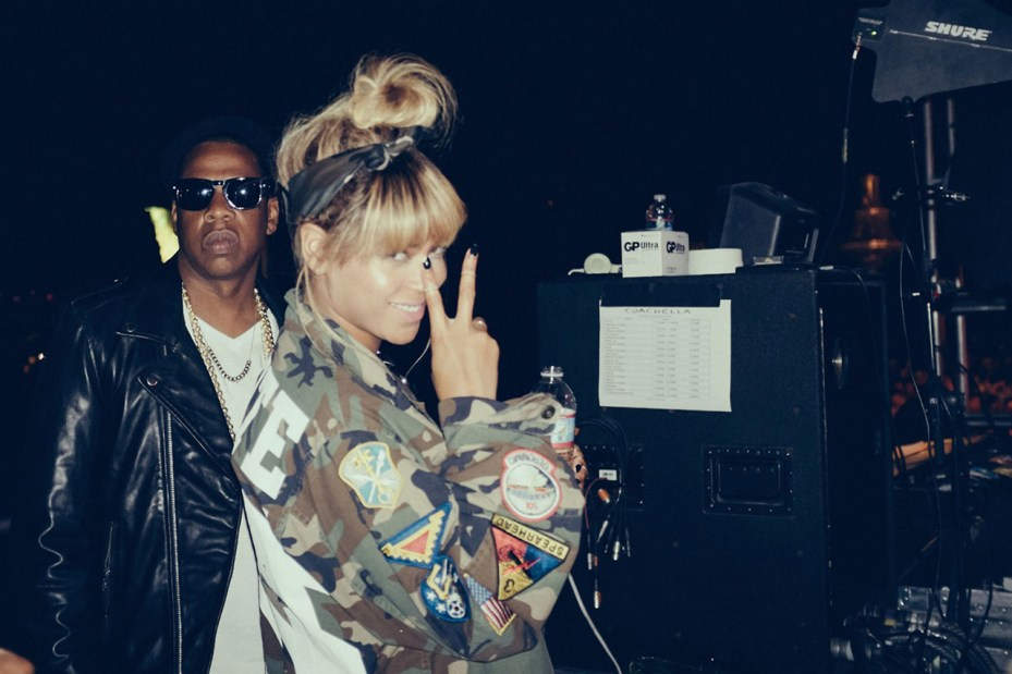 Image of Beyoncé & Jay Z Share Candid Snaps from Coachella