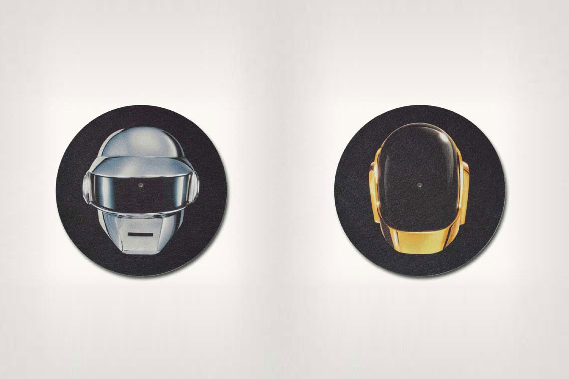 "Image of Daft Punk ""Split Helmet"" Slipmats"