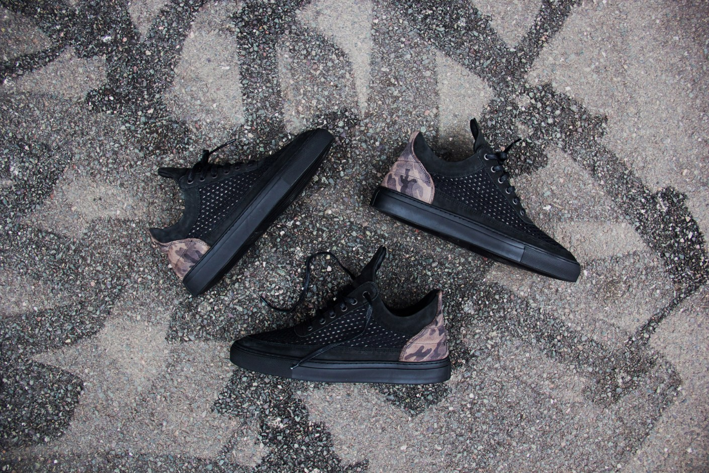 "Image of Filling Pieces Low Top Black 3M ""Rizky's"""