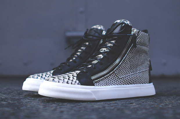 Image of Giuseppe Zanotti Snakeskin High-Top Kith Exclusive
