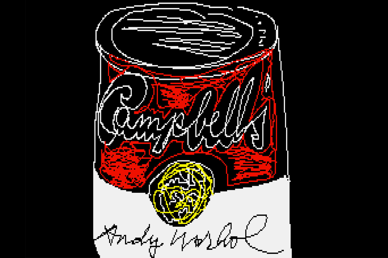 Image of Lost Andy Warhol Digital Works Found on Floppy Disks