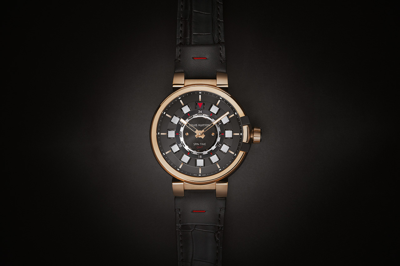 Image of Louis Vuitton Tambour eVolution Spin Time GMT