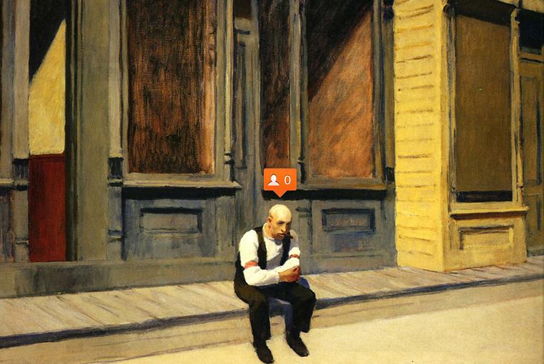 Image of Nastya Nudnik Adds Social Media Symbols to Paintings