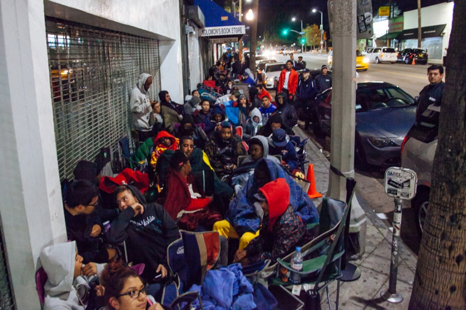 Image of The Nike Foamposite Campout at Supreme Los Angeles