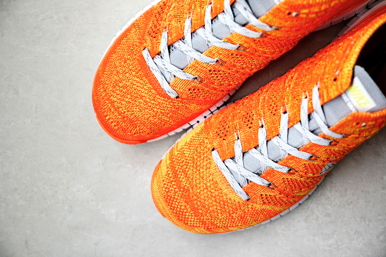 Image of Nike Free Flyknit Chukka Orange/Volt