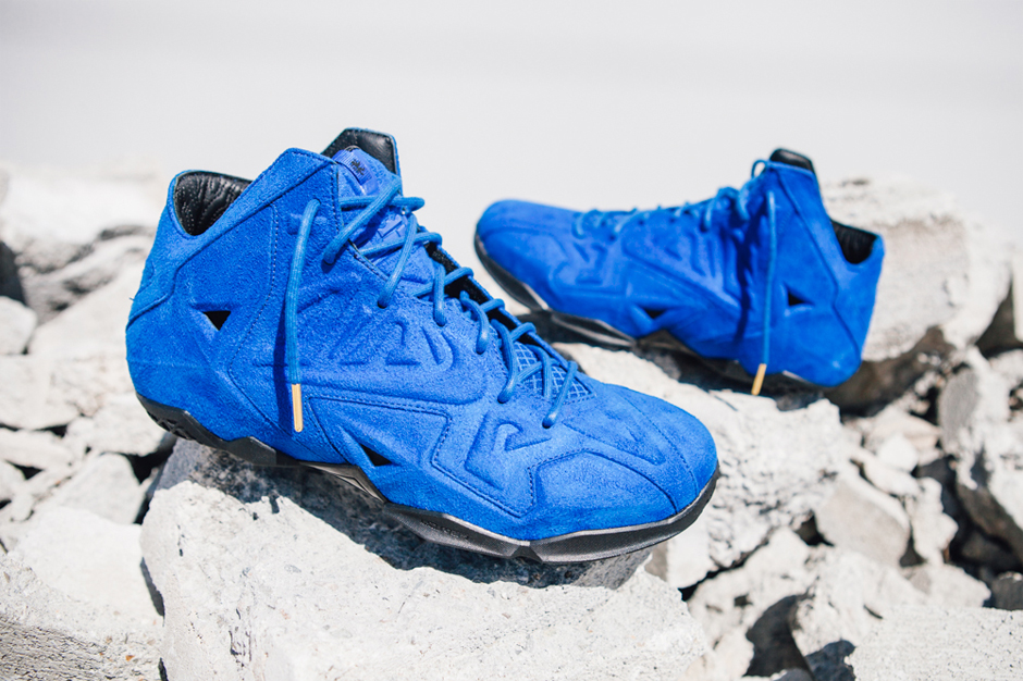 """Image of Nike LeBron 11 EXT """"Blue Suede"""""""
