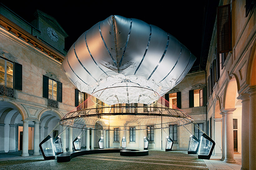 Image of Nike Uses Flyknit Technology to Erect the Aero-Static Dome