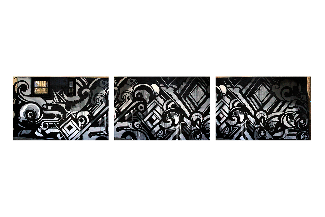Image of Reyes Transforms Haight Street Wall for Black Scale