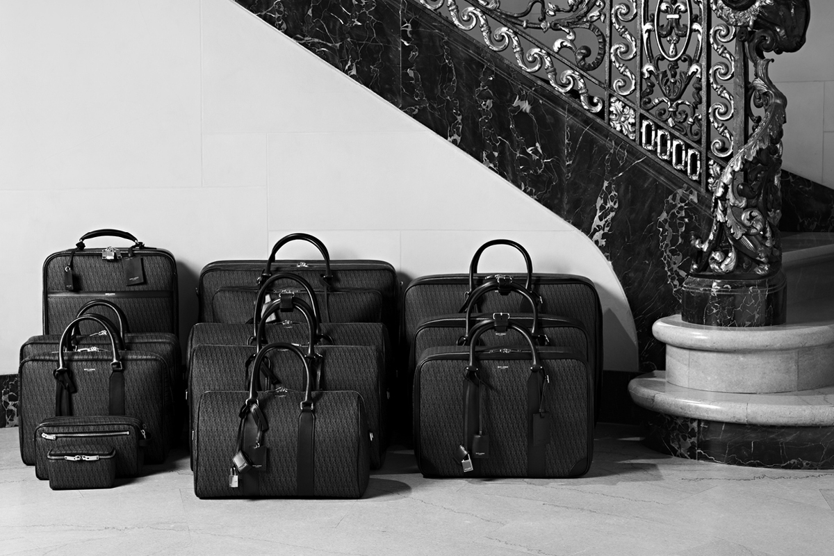 Image of Saint Laurent Monogram Luggage Collection