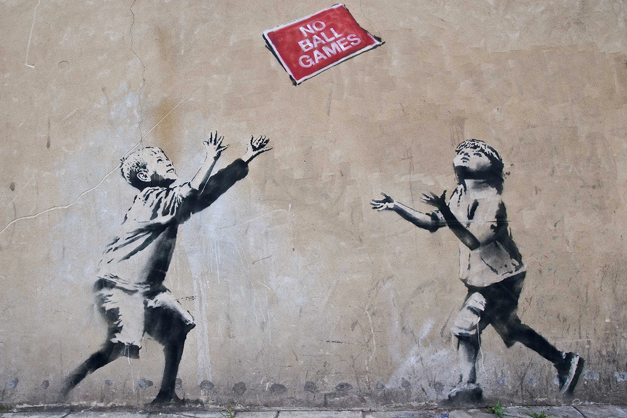 Image of Seven Banksy Works Removed from Public Walls; To Be Auctioned Off