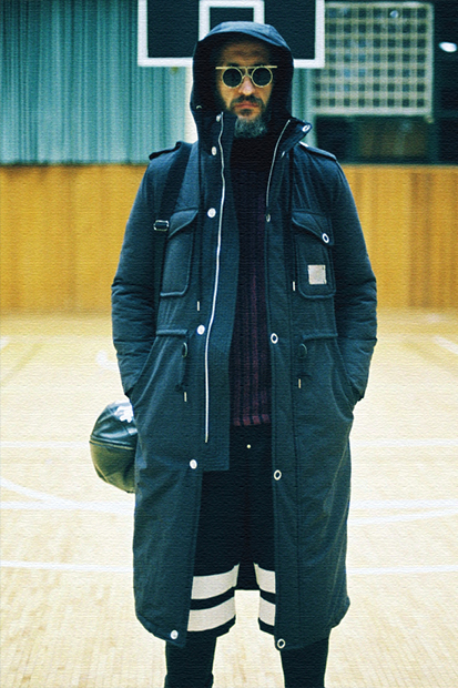 "Image of Sneezer Parade 2014-15 Fall/Winter ""Old Man Basketball Team"" Lookbook"