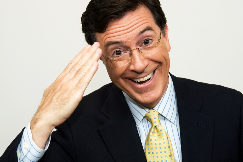 Image of Stephen Colbert to Succeed David Letterman as Host of 'Late Show'