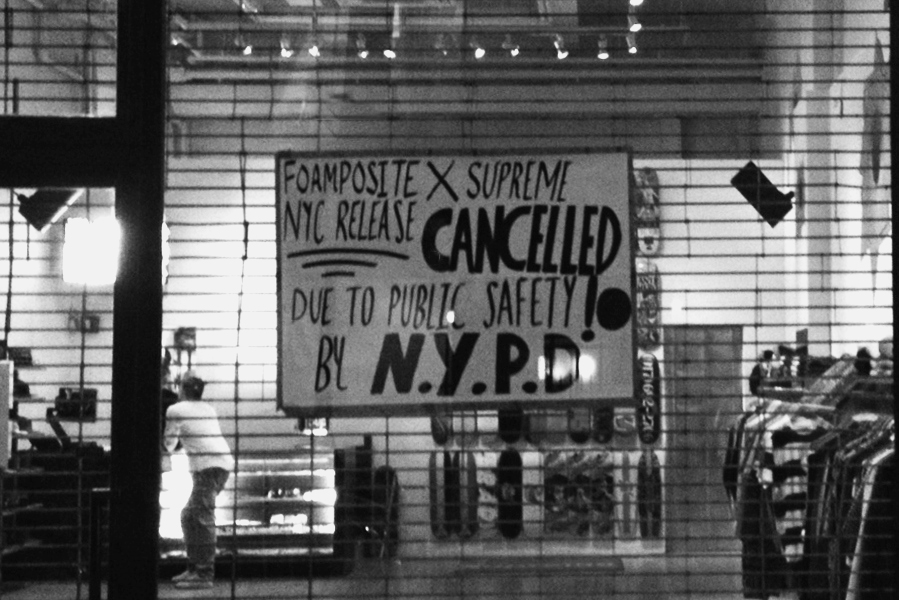 Image of Supreme New York Cancels Store Launch of Nike Air Foamposite 1 Collaboration Over Safety Concerns