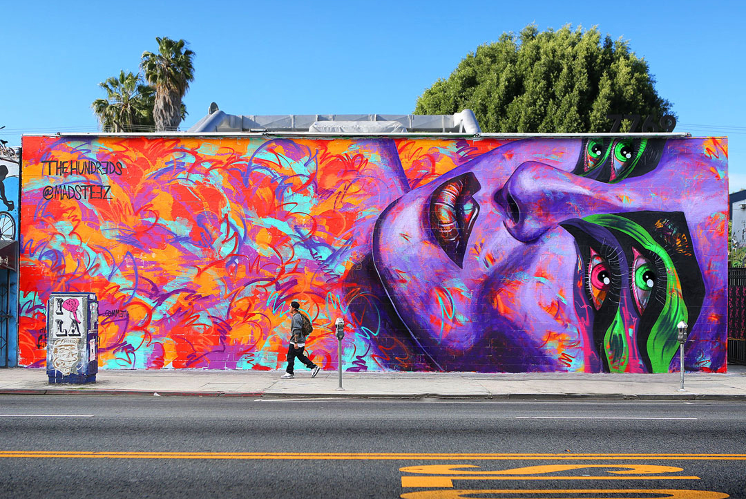 Image of The Hundreds x MADSTEEZ Mural On Melrose Los Angeles