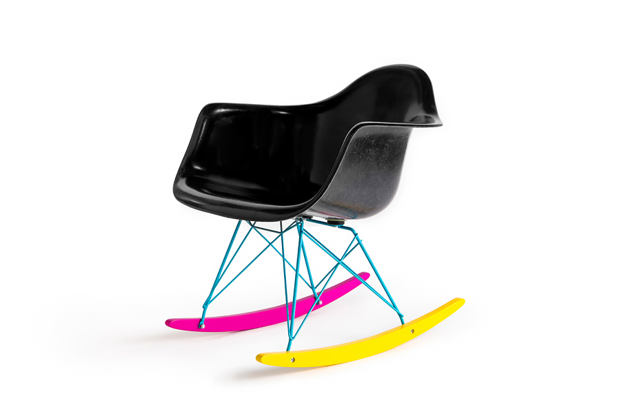 "Image of The Hundreds x Modernica ""CMYK"" Fiberglass Arm Shell Rocker"